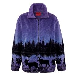 Adult Fleece Jackets Microplush Jacquard Full length Zipper ...